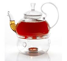 Стеклянный чайник с высокой ручкой 1200 мл.